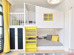 Kids' room without bunk beds is empty of fun and color. The trendy bunk beds these days that are mak Cool Bedrooms For Boys, Girls Bedroom, Bedroom Decor, Bedroom Ideas, Nursery Ideas, Bed Ideas, Shared Bedrooms, Bedroom Fun, Ikea Bedroom