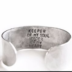 This would be really sweet to have on the inside of a wedding band