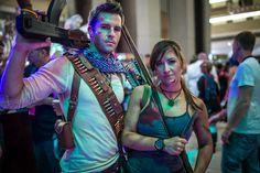 Nathan Drake Cosplay and Lara Croft Tomb Raider Cosplay.