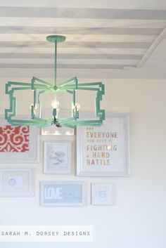 One of the most creative DIYs I've seen in ages. From Fluorescent Diffuser to Statement Pendant {Sarah M. Dorsey Designs} East Coast Creative: