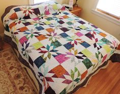 Hunter's Star Queen Size Quilt by HartfordAvenueQuilts on Etsy