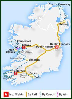 Rail Map Of Ireland.24 Best Irish Travel By Rail Images Ireland Travel Train Tour