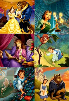 The Disney Princess Life- Belle, beauty and the beast Disney Marvel, Disney Pixar, Fera Disney, Disney Nerd, Disney Girls, Disney Animation, Disney And Dreamworks, Disney Kunst, Arte Disney