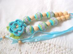 Spring Fantasy/ Crochet Necklace/ Ecofriendly от ColoredYarn, $32.00