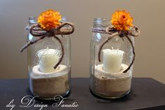 DIY Mason Jar Candles | diy Design Fanatic: Super Simple (No Cost) Mason Jar Candles For Fall