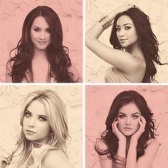 PLL : Spencer, Emily, Hanna, Aria.