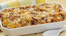 CHEESY BACON & EGG BRUNCH CASSEROLE | This one-dish brunch casserole is ideal for a crowd. Add a fruit salad and you can sit back and enjoy your company. CLICK FOR RECIPE