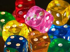 Awesome colors of gambling balls -- dice