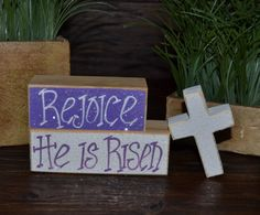 Easter Block Set-Personalized Wood Block Love Set - home decor primitive block gift holiday personalized wood sign Religious Easter Decor on Etsy,