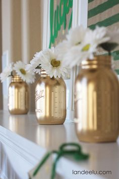 Burlap Mantel Decor: St. Patrick's Day - Landee See Landee Do
