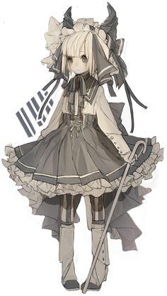 Demon anime girl