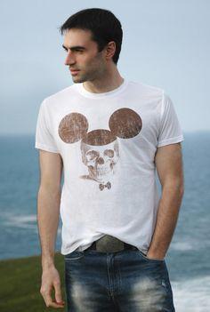 "Skull Mickey tshirt ""Torn Thorn"""