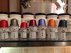 Nespresso+cork snowmen