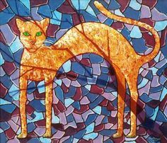 "Saatchi Art Artist Calvert Brown; Painting, ""Nine Lives and Cat"" #art"