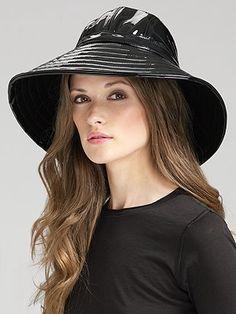 Loveee this patent leather  Eric Javitz hat ($128)