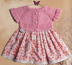 НАША СТРАНА МАСТЕРОВ: Платье для девочки на спицах