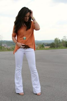 I'm terrified of white jeans, but this pic almost convinces me that I could pull it off.