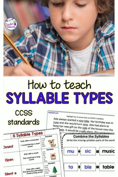 Syllable Types | Syllable Activities | Reading Strategies | Everything you need to teach students the 6 Syllable Types and Syllabication skills in 6 weeks or less to teach segmenting and decoding larger words. #readingstrategies #3rdgrade #4thgrade #tpt #tptstuff #TeacherFeatures #secondgrade #readingteacher #thirdgrade #fourthgrade #wordwork #syllabletypes #2ndgrade #syllableactivities #syllableactivities #readingintervention #syllabletypes #syllabledivision