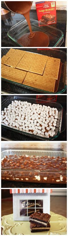 Inside Out Smores Bars.