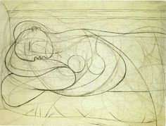 Picasso Femme Nue Couchee - A picasso drawings and illustrations art ...