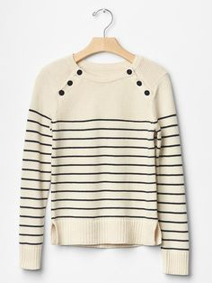 Stripe button sweater Product Image
