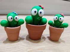 Sculpey fimo polymer clay baby cacti cactus