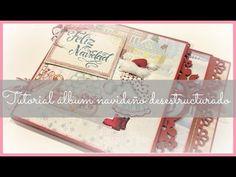 Cómo hacer álbum desestructurado navideño: tutorial completo:) - YouTube