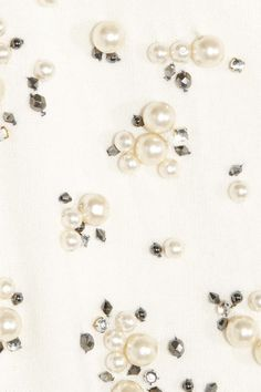 Red Valentino Bead and Crystalembellished Cardigan in White Detalles