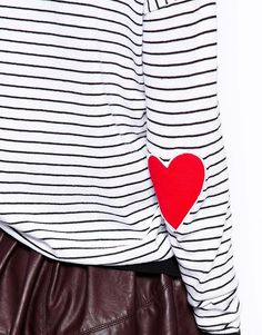 You can never have enough heart patch sweaters