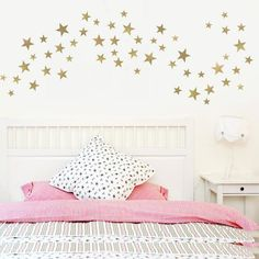 55 Metallic Gold Five - Point Star Vinyl Wall Decals (Multi sized) – Wall Dressed Up