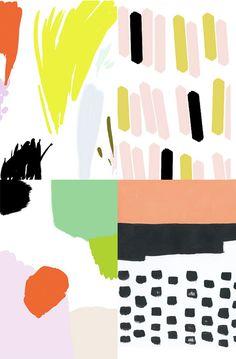 Ashley Goldberg via Wit and Delight Pattern Texture, Pattern Art, Pattern Design, Pattern Painting, Diy Painting, Wit And Delight, Art Graphique, Pretty Patterns, Pattern Illustration