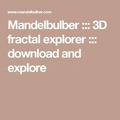 Mandelbulber ::: 3D fractal explorer ::: download and explore