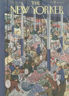 The New Yorker - Saturday, February 25, 1939 - Issue # 732 - Vol. 15 - N° 2 - Cover by : Ilonka Karasz