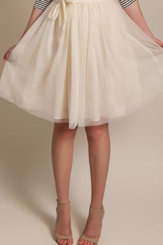 Harper Cream Tulle Skirt – Morning Lavender