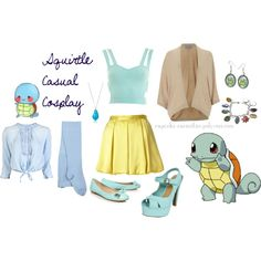 Squirtle Casual Cosplay by cupcake-curiosities, via Polyvore