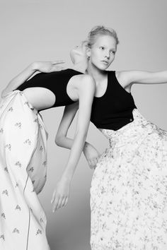 Sasha Luss and Daria Strokous for V Magazine #94, Spring 2015 by Pierre Debusschere