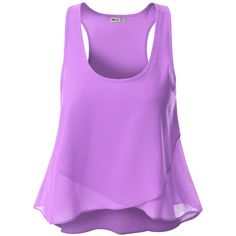 Doublju Womens Womens Shirring Botton Tank Top Style Blouse at Amazon... ($9.99) ❤ liked on Polyvore featuring tops, blouses, gathered top, ruched top, shirred top, purple top and rouched top