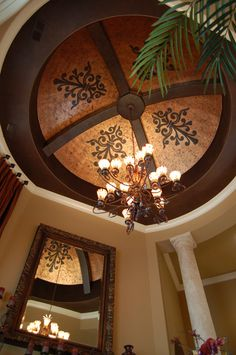 Like stencils added to faux copper dome