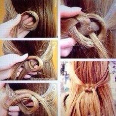 DIY hair - capelli fai da te - raccolto annodato