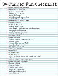 #Summer To-Do List #2014.