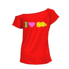 Womens Ladies I Love The 80s Outfit Top Pop Star T-shirt Tee Shirt 6021720 efa080c23c57