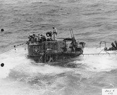 Port side of Conning of German sub U 505.