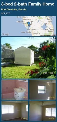 3-bed 2-bath Family Home in Port Charlotte, Florida ►$77,777 #PropertyForSale #RealEstate #Florida http://florida-magic.com/properties/16626-family-home-for-sale-in-port-charlotte-florida-with-3-bedroom-2-bathroom