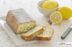 Cake de yogur, limón y semillas de amapola. Receta