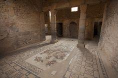 Subterranean room in the House of Amphitrite, Bulla Regia, Tunisia  |  Roman Mosaics Across the Empire exhibition at Getty Villa