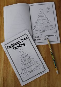 FREE Christmas Tree Counting emergent reader.