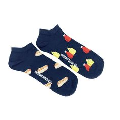 Men's Hot Dog Ankle Socks | Mismatched by Design | Friday Sock Co. Ethically made in Italy. Click the link to see more designs!