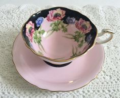 Stunning Rare Poppy Paragon China Tea Cup & Saucer