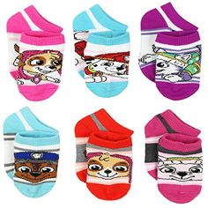 These baby girl's Yankee Toy Box exclusive Paw Patrol sock sets are a great value. These no show style sock sets feature a variety of colors Boys Socks, Fun Socks, Black Baby Girls, Toddler Boy Fashion, Fashion Socks, Toy Boxes, Toddler Shoes, Paw Patrol, Little Boys