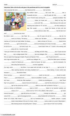 Present Simple Interactive worksheet by zugarplum English Grammar Exercises, Teaching English Grammar, English Writing Skills, English Reading, Grammar And Vocabulary, Grammar Lessons, English Language Learning, English Vocabulary, Grammar Activities